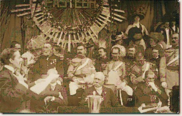 Diaz attending centennial celebrations, Mexico City, September 1910