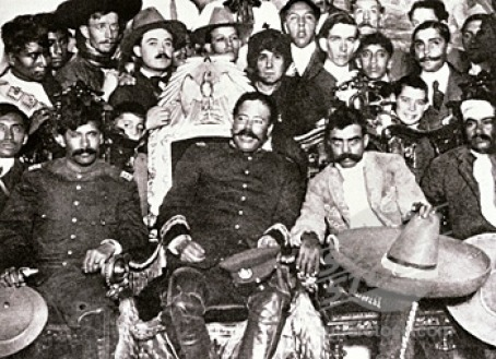Zapata on the right at the presidential palace