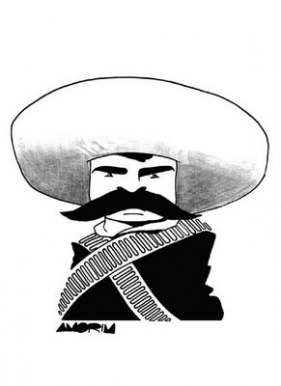 Zapata illustrated in a cartoon.
